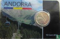 Andorra 10 cent 2014 (coincard)