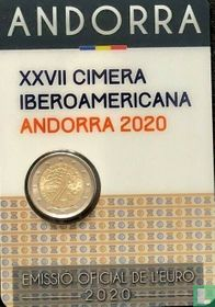 "Andorra 2 euro 2020 (coincard - Govern d'Andorra) ""27th Ibero-American summit in Andorra"""