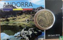 Andorra 50 cent 2014 (coincard)