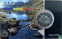 Andorra 1 euro 2014 (coincard)