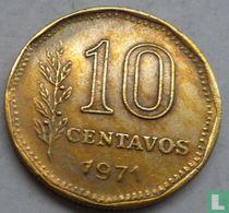 Argentina 10 centavos 1971