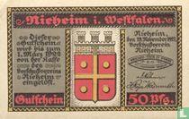 Nieheim 50 pfennig