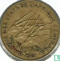 Centraal-Afrikaanse Staten 10 francs 1981