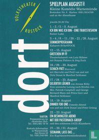 Volkstheater Rostock  - Spielplan August 2002