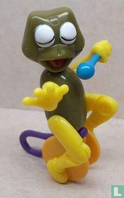 Frog on unicycle