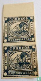 Stoomboot 2 pesos 1859 REPRINT