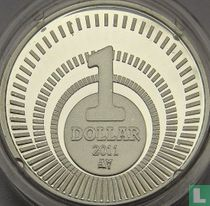 """BES eilanden 1 dollar 2011 (PROOF) """"Introduction of the US dollar as legal tender"""""""