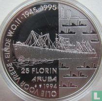 "Aruba 25 florin 1994 (PROOF) ""Oil for peace - End of World War II"""