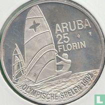 "Aruba 25 florin 1992 ""Summer Olympics in Barcelona"""