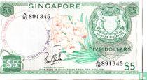 Singapore 5 dollar 1967