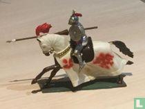Ridder te paard met lans en harnas