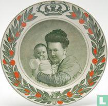 Wandbord Geboorte Prinses Juliana 1909