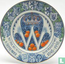 Wilhelmina 1898-1938 regeringsjubileum bord