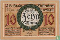 Lindenberg im Allgäu 10 Pfennig 1918