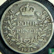 Brits Guiana 4 pence 1921