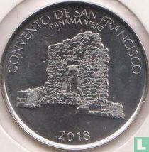"Panama ½ balboa 2018 ""San Francisco convent of Panama Viejo"""