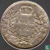 Brits Guiana 4 pence 1931