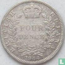 Brits Guiana 4 pence 1944
