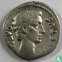 Romeinse Rijk denarius Augustus Rome 13 BC