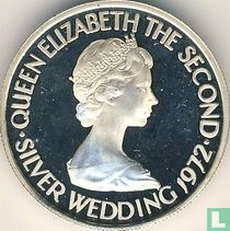 """Jersey 50 pence 1972 (PROOF) """"25th Wedding anniversary of Queen Elizabeth II and Prince Philip"""""""