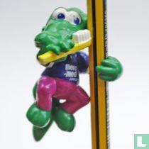 Crocodile with toothbrush