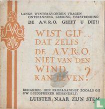 Wist gij dat zelfs de A.V.R.O. niet van den wind kan leven?