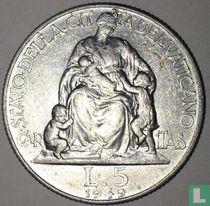 Vaticaan 5 lire 1949