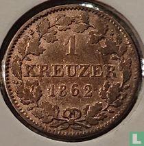 Beieren 1 kreuzer 1862