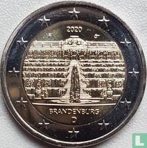 """Duitsland 2 euro 2020 (F) """"Brandenburg"""""""