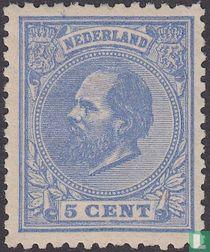 Koning Willem III (12½ kleine gaten)