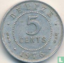 Belize 5 cents 1976 (aluminium)