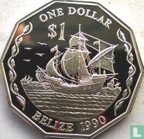 Belize 1 dollar 1990 (PROOF)