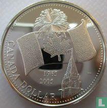 "Canada 1 dollar 2005 (kleurloos) ""40th anniversary of the Canadian flag"""