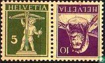 Frankeerzegels met gewijzigde kleuren