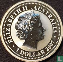 "Australië 1 dollar 2007 (kleurloos) ""2008 Year of the Rat"""