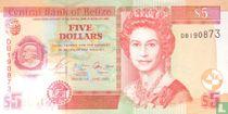 Belize 5 dollars