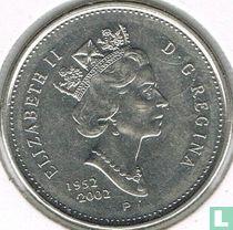 "Canada 25 cents 2002 ""50th anniversary Accession of Queen Elizabeth II"""