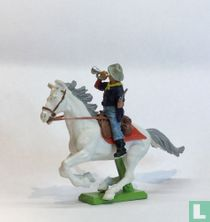 Trumpet player on horseback