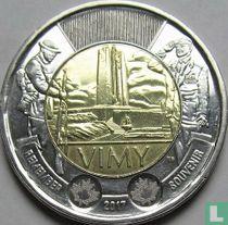 "Canada 2 dollars 2017 ""100th anniversary Battle of Vimy ridge"""