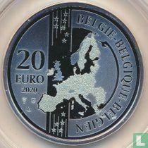 "België 20 euro 2020 (PROOF) ""20 years historical Bruges"""