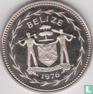 "Belize 25 cents 1976 ""Blue-crowned motmot"""