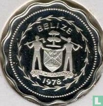 """Belize 1 cent 1978 (PROOF - zilver) """"Swallow-tailed kite"""""""