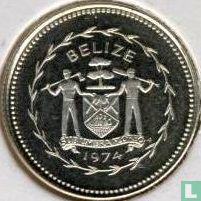 """Belize 10 cents 1974 (PROOF - zilver) """"Long-tailed hermit"""""""