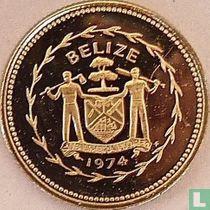 """Belize 10 cents 1974 (PROOF - koper-nikkel) """"Long-tailed hermit"""""""
