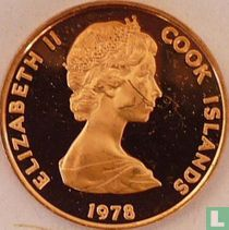 "Cookeilanden 1 cent 1978 (PROOF) ""250th anniversary Birth of James Cook"""