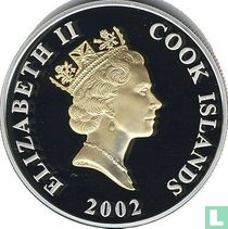 "Cookeilanden 1 dollar 2002 (PROOF) ""50th anniversary Accession of Queen Elizabeth II"""