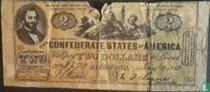 Confederate States 2 Dollar 1862