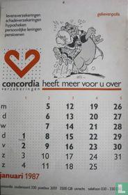 Concordia kalender 1987 [zonder opdruk tussenpersoon]