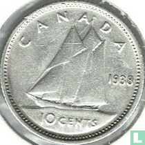 Canada 10 cents 1938