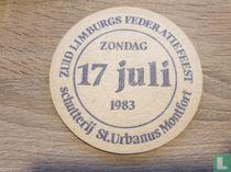 Zuid Limburgs Federatiefeest - zondag 17 juli 1983 - schutterij St.Urbanus Montfort